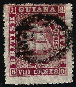 British Guiana  SG 112 Used Fine perf faults ...Fill a key British Colony spot!