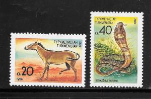 Turkmenistan #29-30 MNH Singles (my10)