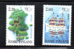 Finland Sc 864-5 1991 Tourism stamp set mint NH