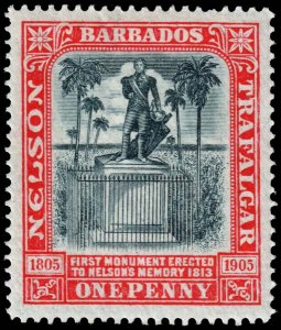 Barbados - Scott 104 - Mint-Hinged - Short Perf Tooth - Pencil Marks on Back