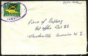 JAMAICA 1967 cover with BROMLEY TRD
