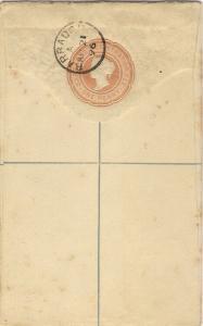 1896 BARBADOS 1d Registered Postal Stationery Envelope