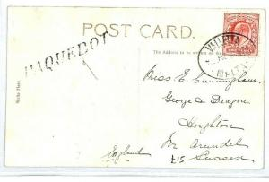 MALTA Valletta PAQUEBOT GB INDIAN POSTCARD 1905 {samwells-covers} CW232