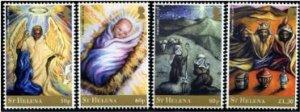 2020 St Helena Christmas  (4)  (Scott 1167-70) MNH