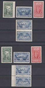 COSTA RICA 1924 ATHLETIC GAMES Sc B2-B7, B4a & B7a SET & TETE-BECHES MINT €270