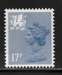 Great Britain Wales WMMH30 17p Machin MNH
