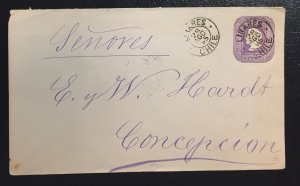 Chile envelope cancel date 1895 (used)