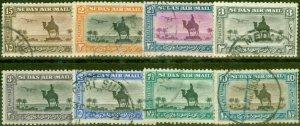 Sudan 1936-37 Perf 11.5 x 12.5  Set of 8 SG52b-57e Fine Used