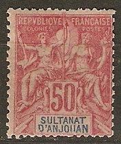 Anjouan 16 Cer 11 MHR AF 1892 SCV $42.50