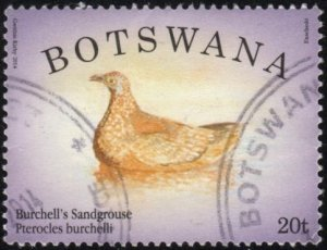 Botswana 940 - Used - 20t Burchell's Sandgrouse (2014)
