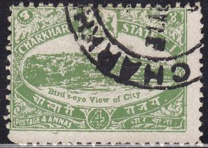 India Charkhari 31 Used 1931 Charkhari City