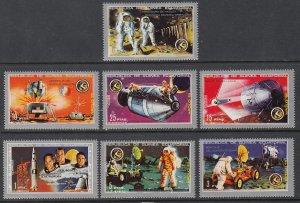 Equatorial Guinea 7201-7207 Space MNH VF
