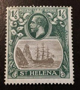 St. Helena Scott 96 KGV Definitive One Schilling Six Pence-Mint