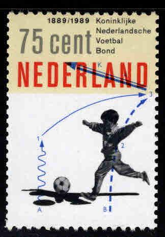 Netherlands Scott 749 MNH** 1989 Soccer stamp