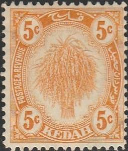 Malaya-Kedah, #30 MH From 1921-36