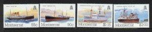 Montserrat 539-42 MNH Ships