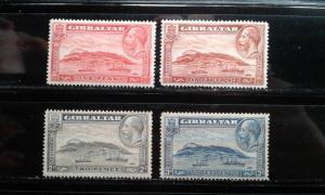 Gibraltar #96-99 mint hinged e1812.2976