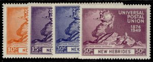 NEW HEBRIDES GVI SG64-67, anniversary of UPU set, M MINT.