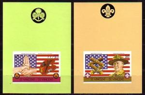 St. Vincent, Scott cat. 922-922a. Anniversary of Scouting, IMPERF s/sheets. ^