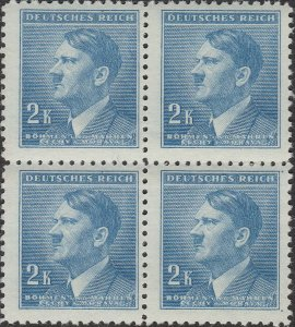Stamp Germany Bohemia B&M Mi 099 Sc 72 Block 1942 WW2 3rd Reich Hitler MNH