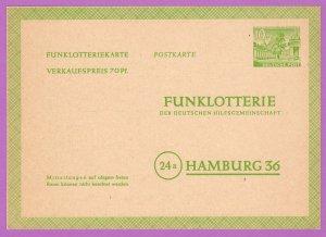 BER MiFP1 M 1949 10pf (70pf) Lottery Card