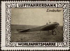 Germany WWI Eindecker Air Force Memorial Luftfahrerdank Flight MNH Cinde G102816
