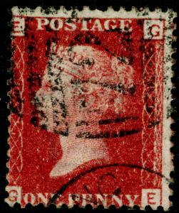 SG43, 1d rose-red PLATE 110, FINE USED, CDS. Cat £10. GE