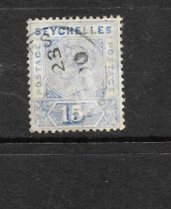 SEYCHELLES  1897  15c   QV  FU  SG 30