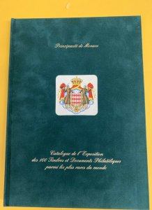 Monaco 2000 International Philatelic Exhibition, Green Velvet Hardbound Catalog