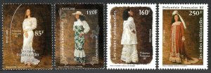 French Polynesia 779-782, MNH. Traditional Dresses, 2000