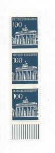 Germany, 956, Brandenburg Definitive Strip of 3, MNH