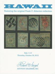 Hawaii Specialized, Robert A. Siegel, Sale 1112, October 29, 2015, Catalog