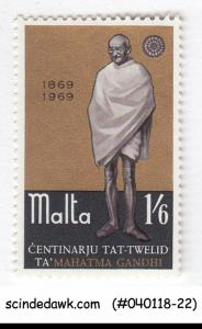 MALTA - 1969 Birth Centenary of MAHATMA GANDHI - 1V - MINT NH