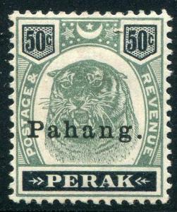 HERRICKSTAMP MALAYA: PAHANG Sc.# 18 1898 Tiger. Signed LH