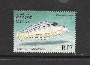 FISH - MALDIVES #2385  SAND PERCH   MNH