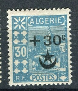 FRENCH; ALGERIA 1927 Wounded Soldiers issue fine Mint hinged 30c. value