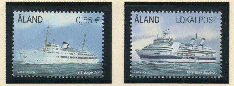 Aland Finland Sc 325-26 2012 Ferries stamp set mint NH