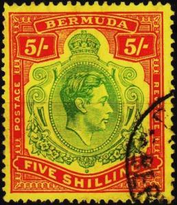 Bermuda. 1938 5s  S.G.118f Fine Used