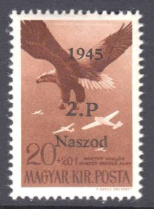 HUNGARY 20+20 LOCAL WW2 NASZOD ROMANIA LIBERATION OVERPRINT OG NH U/M VF