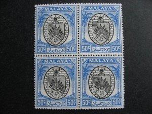 Malaya Negri Sembilan MNH Sc 55 block of 4
