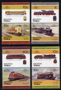 Tuvalu - Nukufetau 1985 Locomotives #1 (Leaders of the Wo...