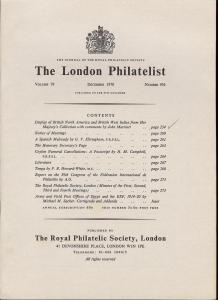 The London Philatelist: Vol. 79, Number 936,