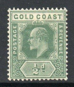 Gold Coast 1907 EDVII ½d dull green wmk MCCA SG 59 mint