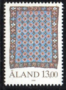 Aland Finland Sc 53 1990 13m Tapestry stamp mint NH