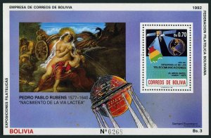 Bolivia 805a,MNH.Mi Bl.197. Creation of the Milky Way,by Peter Paul Rubens,1992.