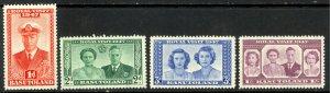 BASUTOLAND KGVI 1947 ROYAL VISIT Set Scott Nos. 35-38 MNH