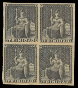 Trinidad Scott 7 Gibbons 10 Block of Stamps