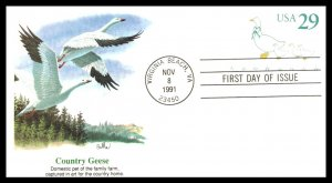 #U624 Geese Stamped Envelope – Fleetwood Cachet