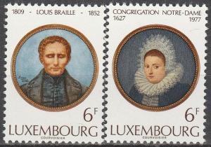 Luxembourg #601-2 MNH VF (V2650)