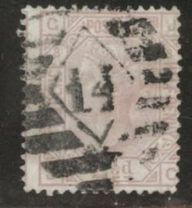 Great Britain Scott 67, 1875 Victoria 2.5p Plate 8 CV$52